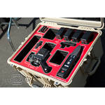 Jason Cases Large Hard Travel Case for RED EPIC and SCARLET (Red Overlay)