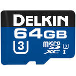 Delkin Devices 64GB 660x microSDXC UHS-I Memory Card with SD Adapter
