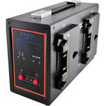 POWERANGE PR-PL-5680A Compact Portable Quad Charger with Simultaneous 16.8 VDC Output for Gold Mount and POWERANGE AN Batteries