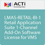 ACTi LMAS-RETAIL-BI-1 Retail Application Suite 1-Channel Add-On Software License for VMS