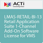 ACTi LMAS-RETAIL-BI-13 Retail Application Suite 1-Channel Add-On Software License for VMS