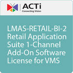 ACTi LMAS-RETAIL-BI-2 Retail Application Suite 1-Channel Add-On Software License for VMS