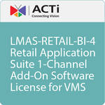 ACTi LMAS-RETAIL-BI-4 Retail Application Suite 1-Channel Add-On Software License for VMS