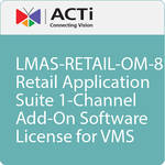 ACTi LMAS-RETAIL-OM-8 Retail Application Suite 1-Channel Add-On Software License for VMS