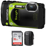 Olympus Stylus TOUGH TG-870 Digital Camera Basic Kit (Green)
