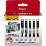 Canon CLI-251 CMYKGY 5-Cartridge Ink Set