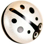 Match Technical Bug-O Soft Shutter Release Button (Silver Lady Bug, Short Stem)
