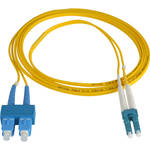 Camplex Duplex LC to Duplex SC Singlemode Fiber Optic Patch Cable (Yellow, 49.2')