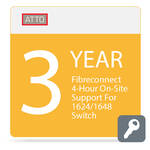 ATTO Technology FibreConnect 4-Hour On-Site Support for 1624/1648 Switch (3-Year)