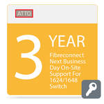 ATTO Technology FibreConnect Next Business Day On-Site Support for 1624/1648 Switch (3-Year)