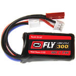Venom Group Fly 7.4V 300mAh 30C 2S LiPo Battery with JST and E-Flite PH Plug (2-Pack)