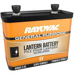 RAYOVAC 6V General-Purpose Lantern Battery with Screw Terminals