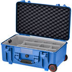 HPRC HPRC2550W Water-Resistant Hard Case with Second Skin and Built-In Wheels (Blue)