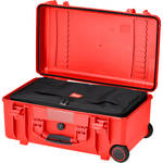 HPRC HPRC2550W Water-Resistant Hard Case with Interior Nylon Bag and Built-In Wheels (Red)