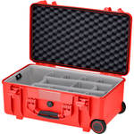 HPRC HPRC2550W Water-Resistant Hard Case with Second Skin and Built-In Wheels (Red)