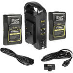 ikan C-2KIT-95A Dual Pro Battery Charger Kit with Two Gold Mount 95Wh 14.8V Li-Ion Batteries