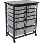 Luxor Double Row Mobile Bin Storage Unit (Small & Large Bins)