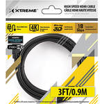 Xtreme Cables High-Speed HDMI Cable with Ethernet (3')