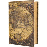 Barska Antique Map Book Lock Box with Keyed Lock