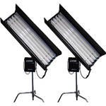 CAME-TV 4' 4-Bank 300W Fluorescent Light Kit with 8 Tubes