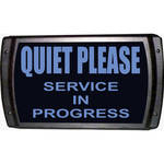 American Recorder QUIET PLEASE - SERVICE IN PROGRESS Sign with LEDs (Blue)