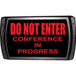 American Recorder DO NOT ENTER - CONFERENCE IN PROGRESS Sign with LEDs (Red)