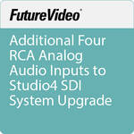 FutureVideo Additional Four RCA Analog Audio Inputs to Studio4 SDI System Upgrade