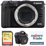 Canon EOS M3 Mirrorless Digital Camera Body Deluxe Kit