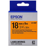 "Epson LabelWorks Fluorescent LC Tape Black on Orange Cartridge (3/4"" x 30')"