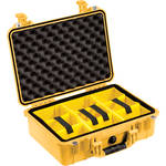 Pelican 1504 Waterproof 1500 Case with Yellow and Black Divider Set (Yellow)