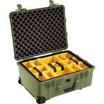 Pelican 1564 for the Waterproof 1560 Case with Yellow and Black Divider Set (Olive Drab)