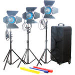 CAME-TV 3 x 650W Tungsten Fresnel Lights