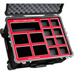 Jason Cases Wheeled Case with Foam for RED REDVOLT XL Battery Kit (Black, Red Overlay)