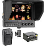 "Elvid 7"" FieldVision Pro On-Camera Monitor with Battery & Charger Kit"
