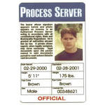Mini Gadgets Process Server ID Card