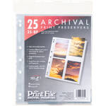 "Print File 35-8P Archival Storage Page for 8 Prints (3.5 x 5"", 25-Pack)"