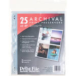 "Print File 45-8P Archival Storage Page for 4x5"" Prints (25-Pack)"
