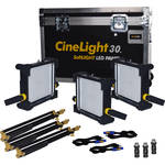 Fluotec CineLight Studio 30 V-Mount Long Throw 3-Light Kit