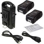 FotodioX Dual Position Battery Charger Kit with 2 Li-Ion 230Wh V-Mount Batteries