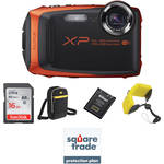 Fujifilm FinePix XP90 Digital Camera Deluxe Kit (Orange)