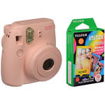 FUJIFILM instax mini 8 Instant Film Camera & Rainbow Instant Film Kit (Pink)