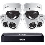FLIR 8-Channel 4K UHD NVR with 3TB HDD, 2 4K UHD Vandal-Resistant Cameras & 4 4MP Dome Cameras with Night Vision