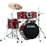 "TAMA IP58NCCPM Imperialstar 5-Piece Drum Set with Cymbals (18"" Bass Drum, Candy Apple Mist)"