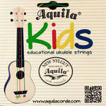 Aquila Kids Color-Coded Educational Ukulele String Set