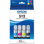 Epson T512 EcoTank Ink Bottle Multi-Pack (Cyan, Magenta, Yellow, Photo Black)