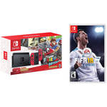 Nintendo Switch Super Mario Odyssey Edition Kit with Mario + Rabbids Kingdom Battle