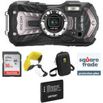 Ricoh WG-30W Digital Camera Deluxe Accessory Kit (Carbon Gray)