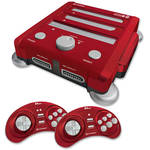 HYPERKIN RetroN 3 Gaming Console with 4-in-1 Game Cartridge (Laser Red)