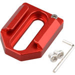 "CAMVATE C1621 Dual 1/4""-20 Mount to Shoe Adapter (Red)"