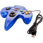 HYPERKIN Tomee Moonlight N64-Style USB Controller (Clear Blue)